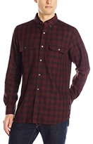 French Connection Men's Route 66 Overdye Check Button Down Shirt