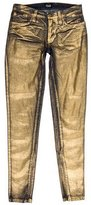 Dolce & Gabbana Metallic Coated Jeans