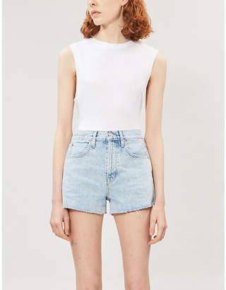 SLVRLAKE Farrah high-rise denim shorts