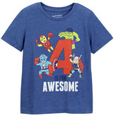 Mighty Fine A is for Awesome Tee (Little Boys)