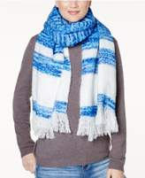 INC International Concepts Striped Brushed Blanket Wrap & Scarf in One, Created for Macy's
