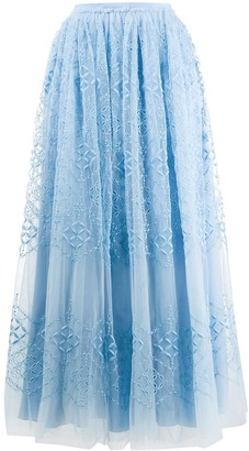 Ermanno Scervino Broderie Anglaise Tulle Skirt