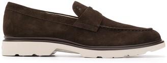 Hogan contrast heel loafers