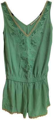 Twelfth St. By Cynthia Vincent Green Silk Jumpsuit for Women