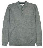 Burton Mens Nines Collection Grey Long Sleeve Knitted Polo Shirt