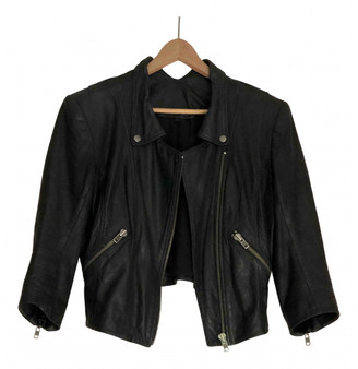 Theyskens' Theory Black Leather Jackets