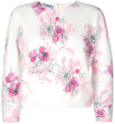 Prada cropped sleeve floral sweater