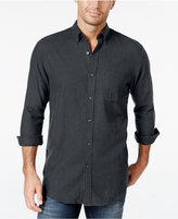John Ashford Men's Long-Sleeve Herringbone Shirt, Only at Macy's