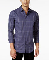 Alfani Men's Big and Tall Classic Fit Long-Sleeve Check Shirt, Only at Macy's