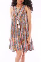 Entro Floral Stripe Dress