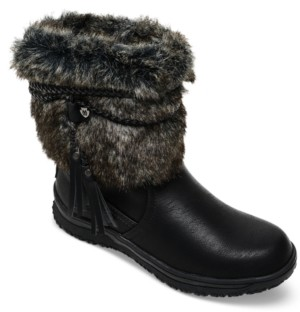 Minnetonka Women's Everett Faux-Fur Booties Women's Shoes