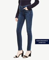 Ann Taylor Embellished Skinny Jeans In Cerulean Wash