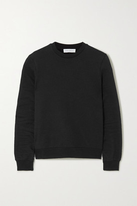 Ninety Percent Net Sustain Stephanie Organic Cotton-terry Sweatshirt - Black