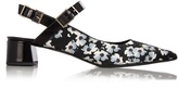 Erdem Aerina rose-print satin pumps