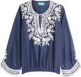 TAJ Embellished Silk Top