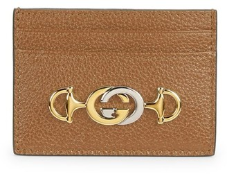 Gucci Zumi Grainy Leather Card Case