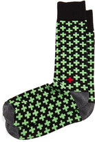 Jonathan Adler Crisscross Socks, Green