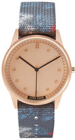 Frank + Oak Hypergrand 01Nato Panama Watch In Rose Gold