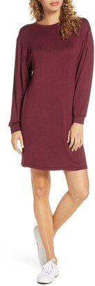 Fraiche by J Long Sleeve Knit Shift Dress