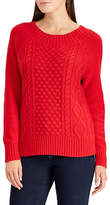 Chaps Petite Cable Knit Sweater