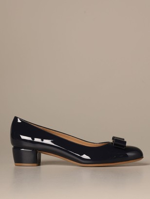 Salvatore Ferragamo High Heel Shoes Vara 1 Décolleté With Patent Bow