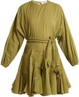 RHODE RESORT Ella round-neck tie-waist cotton dress