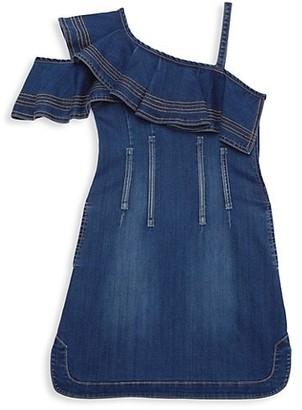 Habitual Girl's One-Shouldered Denim Dress