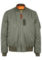 Schott Nyc Lmb6 Shell And Leather Bomber Jacket