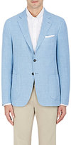 Isaia Men's Cortina Wool-Silk-Linen Two-Button Sportcoat