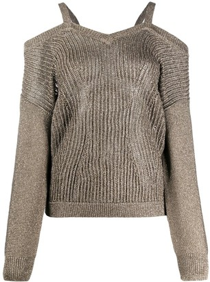 Liu Jo Shimmer Off Shoulder Jumper