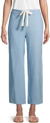 Dolce Vita Wide-Leg Chambray Pants