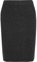 Madewell Ribbed-knit Skirt - Charcoal