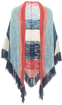 Minnie Rose PF40523C16 R.N.L Fringe Shawl In Multi