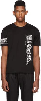 Versace Black Bandana Logo T-Shirt