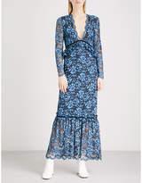 Ganni Flynn lace midi dress