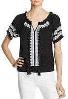 Design History Embroidered Peasant Top