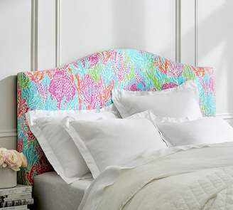 Pottery Barn Lilly Pulitzer Raleigh Curved Low Headboard