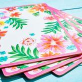 """Sur La Table Tropical Cork-Backed Placemats, 15.75"""" x 11.5"""", Set of 4"""