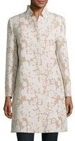 Cinzia Rocca Floral-Motif Cotton-Blend Jacket