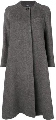 Jil Sander Navy Concealed Front Coat