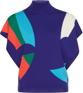 DELPOZO Flutter Sleeve Graphic Knit