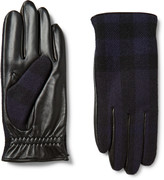 Burberry Cashmere-Lined Wool and Leather Tech Gloves