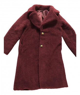 C.b. Made In Italy Burgundy Synthetic Coats