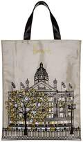 Harrods Metallic Windows Medium Shopper Bag
