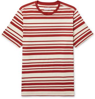 Pop Trading Company Logo-Print Striped Cotton-Jersey T-Shirt