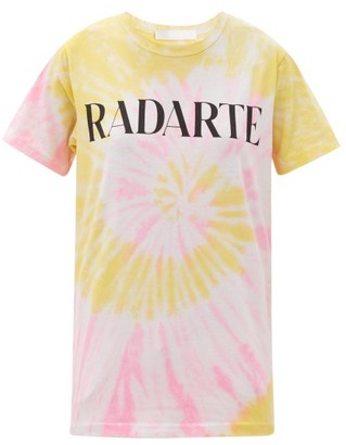 Rodarte Radarte-print Tie-dye Jersey T-shirt - Orange Multi