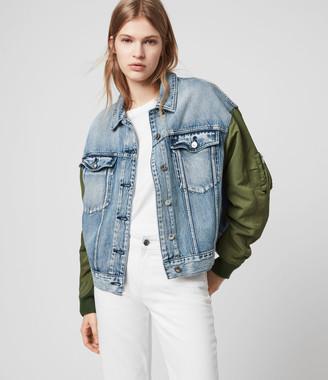 AllSaints Frankie Denim Bomber Jacket
