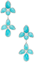 Rina Limor Fine Jewelry 18K White Gold, Amazonite & 0.19 Total Ct. Diamond Chandelier Earrings