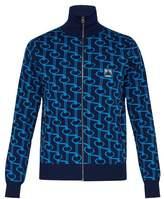 Prada - Zip Through Jacquard Track Jacket - Mens - Navy Multi