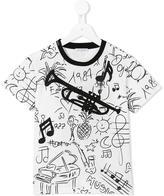 Dolce & Gabbana 'Jazz Elements' print T-shirt - kids - Cotton/Polyester/Viscose - 10 yrs